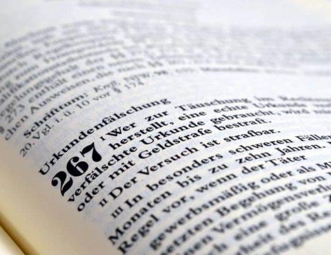 Gesetzestext Urkundenfälschung