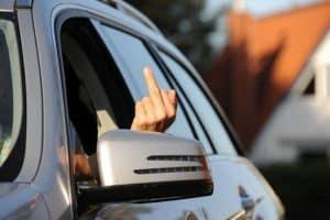 Aggression im Strassenverkehr, Stress, Konflikt, Strassenverkehrsordnung, Beleidigung, Bedrohung, Niedersachsen, Dorum Neufeld, September 2011, Bild Nr.: N35711