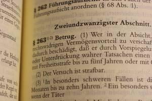 Betrugsparagraph 263 im Gesetzbuch