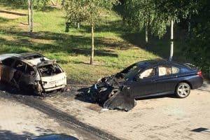 Brandstiftung an einem Auto
