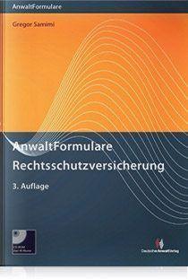 Buchcover Anwaltformulare Rechtsschutzversicherung von Gregor Samimi