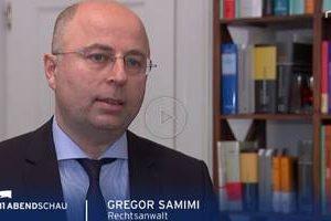 Rechtsanwalt Gregor Samimi bei der Berliner Abendschau im Interview.