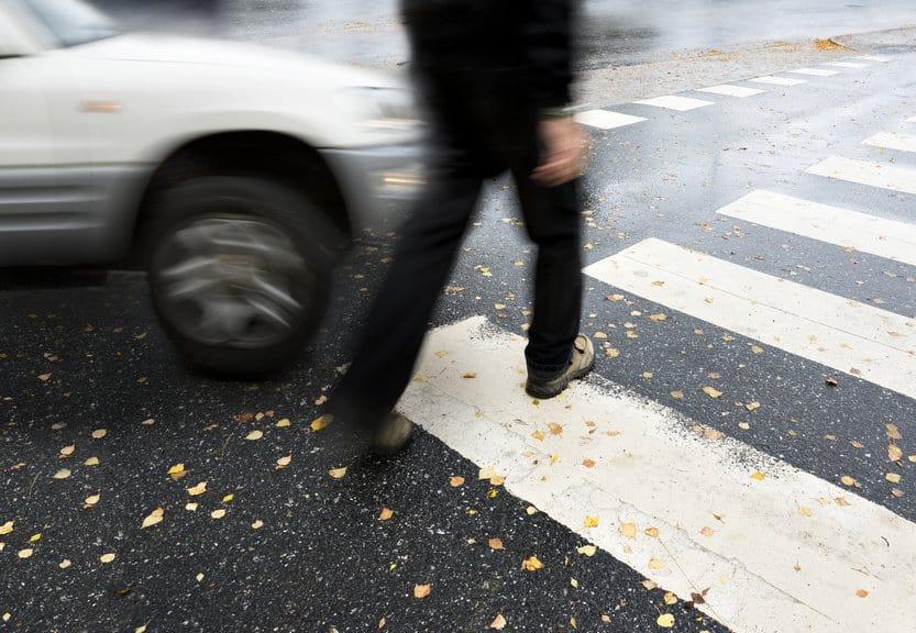 Autofahrer sind in der Nähe von Zebrastreifen meist wachsamer.