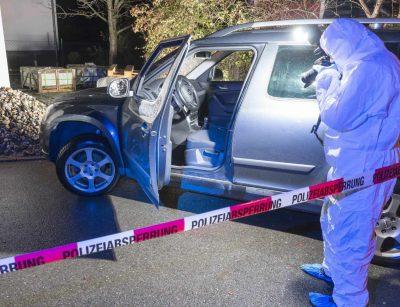 Polizeiliche Ermittlungen nach einer Fahrerflucht.