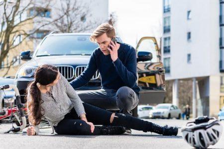 Folge von Unfällen sind meist auch Verletzungen.