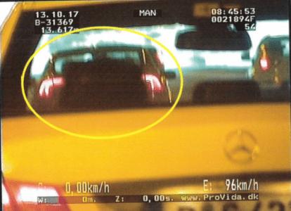 Sichtverdeckung des gemessenen Fahrzeugs.