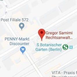Standort der Kanzlei von Rechtsanwalt Gregor Samimi in Berlin