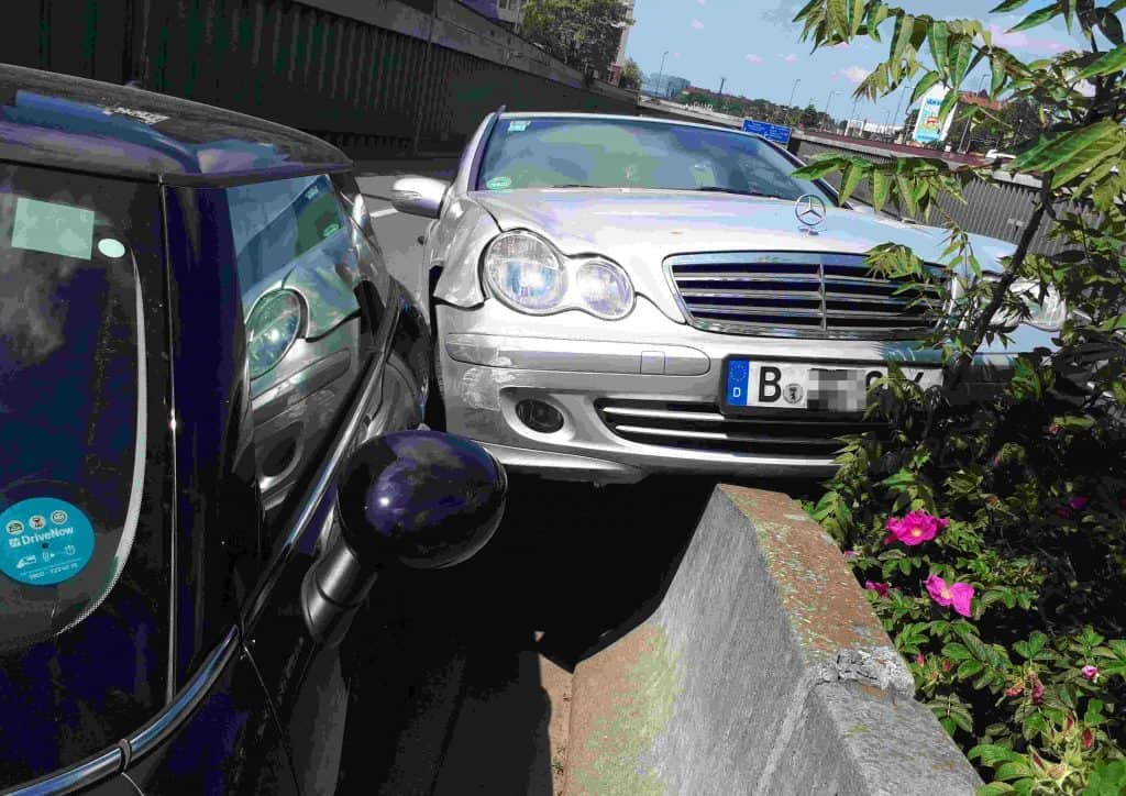 Unfall mit Carsharing-Auto