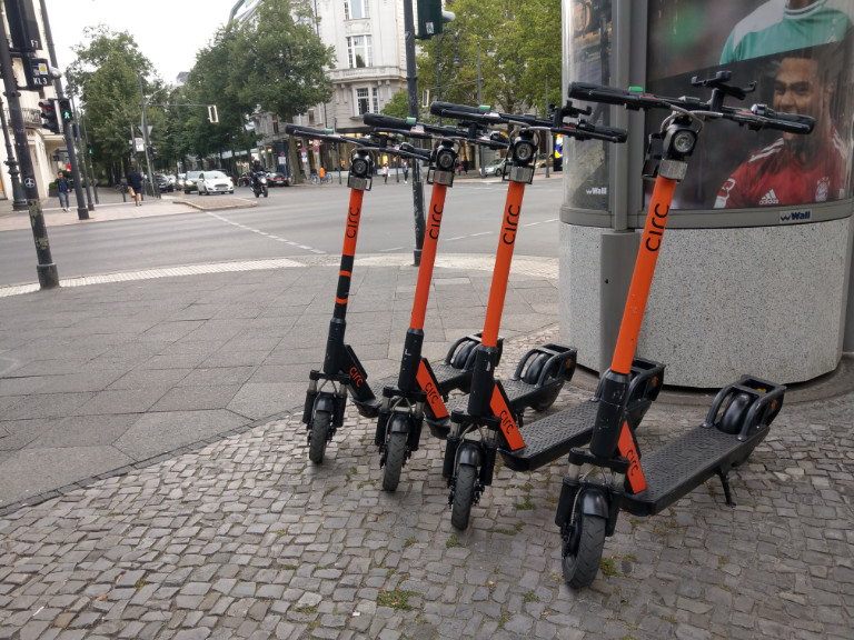 E-Scooter in Berlin zum Ausleihen